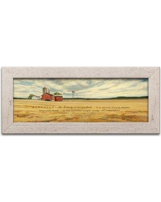"August Grove 'The Beauty' Textual Art AGRV5384 Format: Distressed White Frame Size: 18"" H x 8"" W x 0.75"" D"