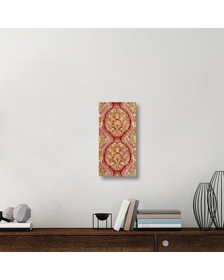 """East Urban Home 'Textile with Design of Lace and Flowers' Graphic Art Print on Canvas ETUC6296 Size: 24"""" H x 12"""" W x 1.5"""" D"""