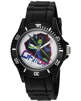 Marvel Guardian Analog-Quartz Watch with Plastic Strap, Black, 23 (Model: WMA000112)