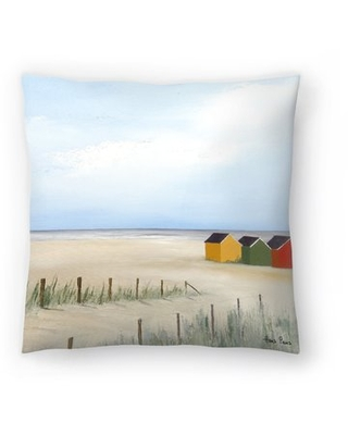 Here S A Great Price On Hans Paus Beach Huts 4 Throw Pillow East Urban Home Size 14 H X 14 W X 1 5 D