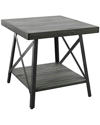 Emerald Home Chandler, End Table, Antique Gray