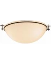 """Hubbardton Forge 16"""" Wide Moonband Ceiling Light"""