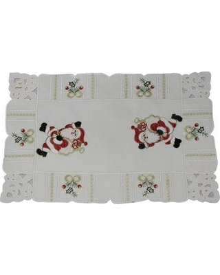 "The Holiday Aisle Pulver Santa 18"" Placemat W001391093 Color: Ivory"