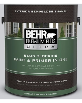 BEHR ULTRA 1 gal. #760E-2 Manhattan Mist Semi-Gloss Enamel Exterior Paint and Primer in One