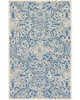 Safavieh Trace Blue/Ivory 3 ft. x 5 ft. Area Rug