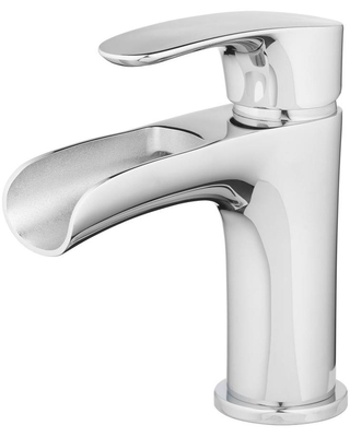 TOSCA Capri Chrome 1-Handle 4-in Centerset WaterSense Bathroom Sink Faucet with Drain and Deck Plate   H07L-412-CH