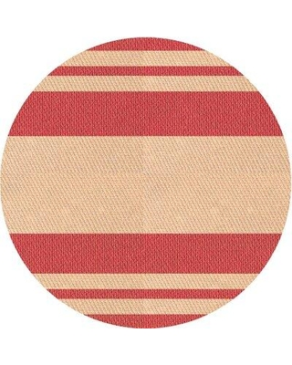 East Urban Home Mccloud Striped Wool Pink Area Rug X113612017 Rug Size: Round 5'