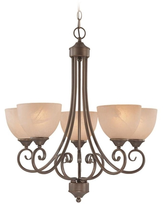 Craftmade Raleigh 5-Light Old Bronze Traditional Chandelier | 25325-OLB