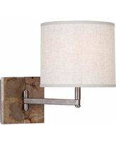 "Robert Abbey Oliver Mango Wood 11 1/2"" Swing Arm Wall Lamp"