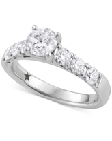 Macy's Star Signature Diamond Engagement Ring (1-5/8 ct. t.w.) in 14k White Gold
