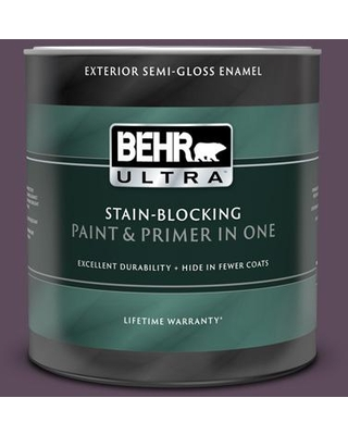 BEHR ULTRA 1 qt. #S100-7 Medieval Wine Semi-Gloss Enamel Exterior Paint and Primer in One