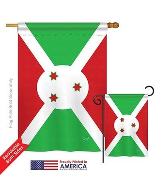 Breeze Decor Burundi of the World Nationality Impressions Decorative Vertical 2-Sided Polyester Flag Set BD-CY-S-108365-IP-BO-D-US15-BD