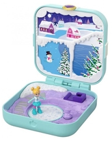 Polly Pocket Frosty Fairytale Compact with 3 Hidden Surprises