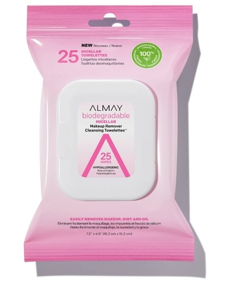 Almay Biodegradable Micellar Makeup Remover Cleansing Towelettes - 25 ct