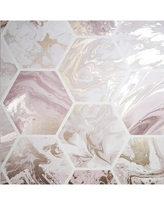 Arthouse Marbled Hex Metallic Unpasted Wallpaper