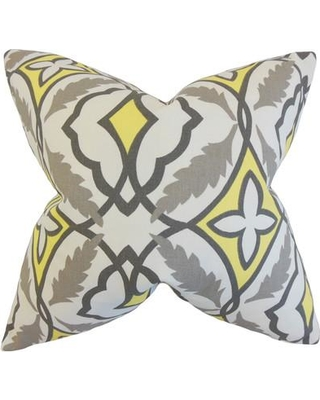 """The Pillow Collection Beck Geometric Cotton Throw Pillow P Size: 24"""" x 24"""""""