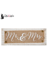 Mr. & Mrs. Wood Wall Decor
