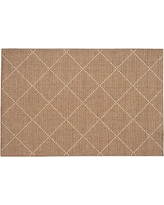 Joey Synthetic Rug, 2 x 3', Earth/Natural