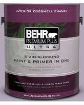 BEHR Premium Plus Ultra 1 gal. #660F-4 Plum Frost Eggshell Enamel Interior Paint and Primer in One