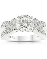 Believe by Brilliance Round Simulated Diamond Sterling Silver Engagement Ring