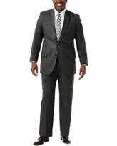 oversizeBig & Tall J.M. Haggar Premium Classic-Fit Sharkskin Stretch Suit Jacket, Men's, Size: 54 LONG, Dark Grey