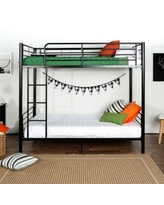 Forest Gate Riley Twin Metal Bunk Bed in Black