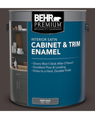 The Best Sales For Behr Premium 1 Gal Ppu5 20 Sweet Molasses Satin Enamel Interior Cabinet And Trim Paint