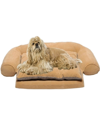 Small Ortho Sleeper Comfort Couch Pet Bed with Removable Cushion - Carmel, Browns/Tans