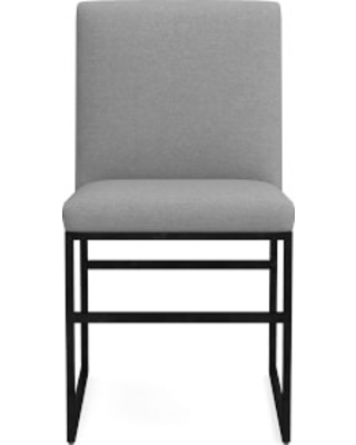 Lancaster Dining Side Chair, Perennials Performance Canvas, Charcoal , Bronze