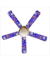"""888 Cool Fans 52"""" Frozen """"Sisters Forever"""" 4 Blade Ceiling Fan Light Kit Included F52-0001042"""