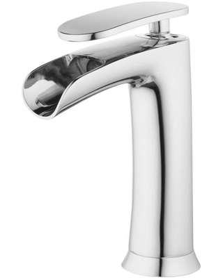 TOSCA Chrome 1-Handle 4-in centerset WaterSense Bathroom Sink Faucet with Drain with Deck Plate | TBD2-CH-T