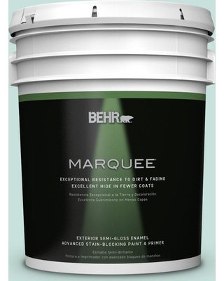 BEHR MARQUEE 5 gal. #M440-1 Rio Sky Semi-Gloss Enamel Exterior Paint and Primer in One