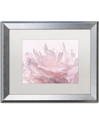 """House of Hampton 'Pink Peony Petals III' Framed Photographic Print on Canvas HOHP9928 Size: 16"""" H x 20"""" W x 0.5"""" D Frame Color: Brown"""