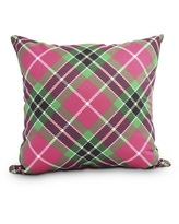 Mad for Plaid 18 Inch Red Holiday Print Decorative Outdoor Throw Pillow