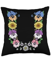 Initial Monogram Floral Alphabet Tees by Alice Ron U Shirt Cute Initial Monogram Floral Alphabet Letters Throw Pillow, 18x18, Multicolor