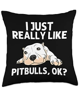 Best Pittie Pup & Bull Terrier Bulldog Owner Arts Funny Pitbull Gift For Men Women Pet Canine Dog Puppy Animal Throw Pillow, 18x18, Multicolor
