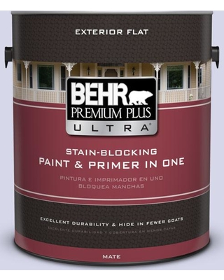 BEHR Premium Plus Ultra 1 gal. #T12-17 Violet Water Flat Exterior Paint and Primer in One