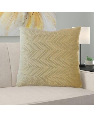 """Ebern Designs Laleia Solid Pillow X112661889 Size: 26"""" x 26"""" Color: Beige Pillow Type: Throw Pillow"""