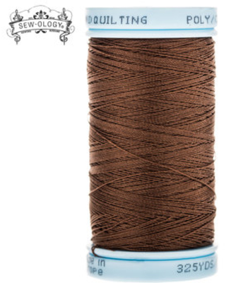 Brown Hand Quilting Poly Cotton Thread