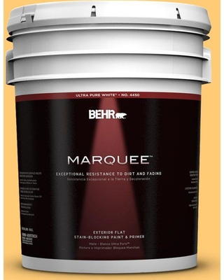BEHR MARQUEE 5 gal. #310B-5 Spiced Butternut Flat Exterior Paint and Primer in One