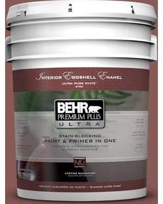 BEHR Premium Plus Ultra 5 gal. #PPU1-09 Red Willow Eggshell Enamel Interior Paint and Primer in One