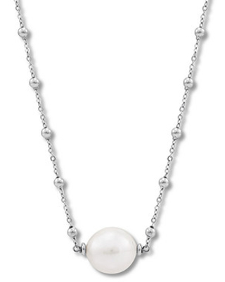 """Honora Cultured Pearl Necklace Sterling Silver 32"""""""