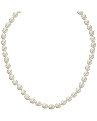 """Honora 7-7.5 mm Freshwater Cultured Pearl Strand Toggle Necklace in Sterling Silver, 18"""""""