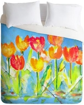 East Urban Home Spring Tulips Lightweight Duvet Cover HACO5132 Size: Queen