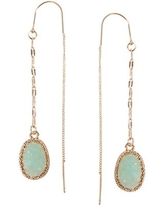 Humble Chic Simulated Druzy Chain Bar Threaders - Long Sparkly Needle Drop Earrings