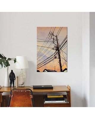"East Urban Home 'Wires II' Graphic Art Print on Canvas EBHS9598 Size: 26"" H x 18"" W x 0.75"" D"