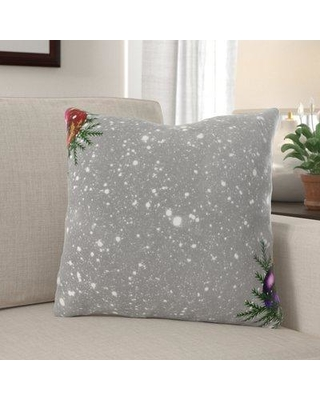 The Holiday Aisle Milford Snow Indoor/Outdoor Canvas Throw Pillow W000158422