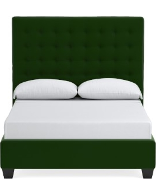 Fairfax Tall Bed, Queen, Signature Velvet, Emerald