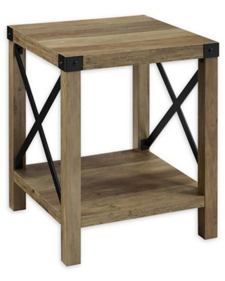 Forest Gate™ Englewood 18-Inch Square Side Table in Rustic Oak