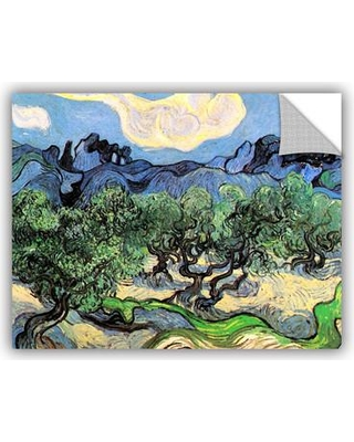 """ArtWall Olive Tress In A Mountanious Landscape by Vincent Van Gogh Removable Wall Decal 0van018a Size: 36"""" H x 48"""" W x 0.1"""" D"""